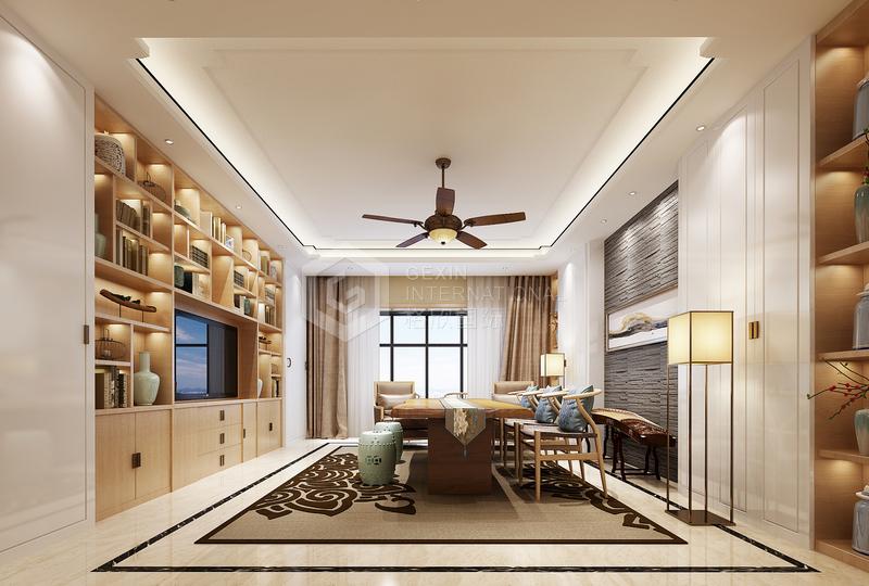 海泊香庭-客厅设计