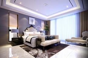 白樺林間現代簡約臥室效果圖