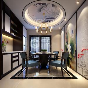 海珀香庭新中式餐厅装修效果图
