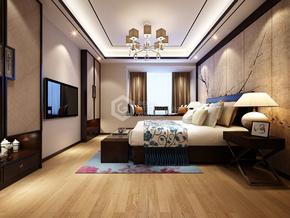 海珀香庭新中式臥室裝修效果圖