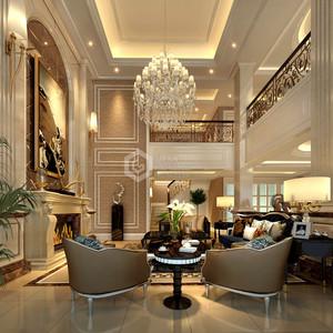 白桦林间欧式新古典客厅效果图