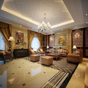 金地芙蓉世家欧式新古典客厅效果图